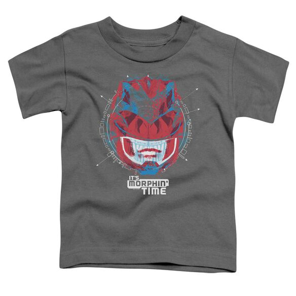 Power Rangers Its Morphin Time Short Sleeve Toddler Tee Charcoal T-Shirt
