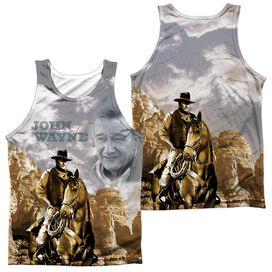 John Wayne Ride Em Cowboy (Front Back Print) Adult 100% Poly Tank Top