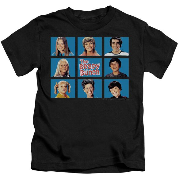 Brady Bunch Framed Short Sleeve Juvenile Black T-Shirt