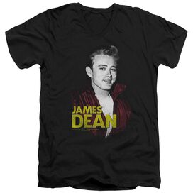 Dean Red Jacket Short Sleeve Adult V Neck T-Shirt