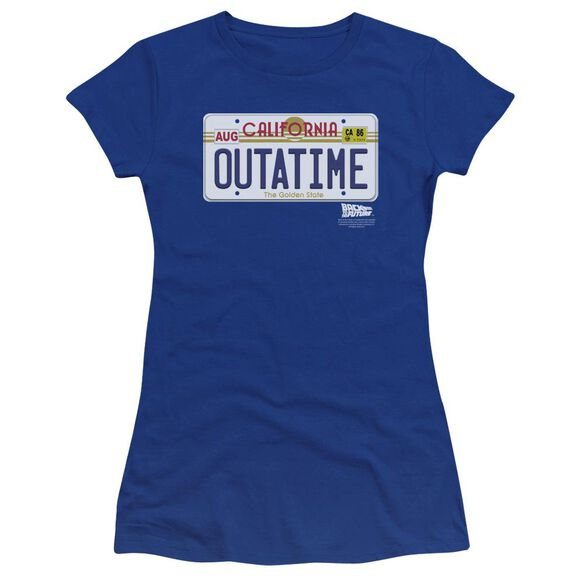 Back To The Future Outatime Plate Premium Bella Junior Sheer Jersey Royal