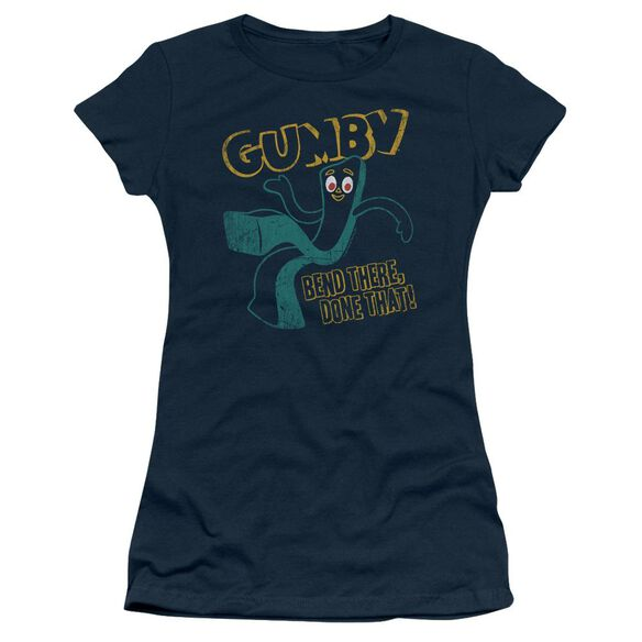 Gumby Bend There Short Sleeve Junior Sheer T-Shirt