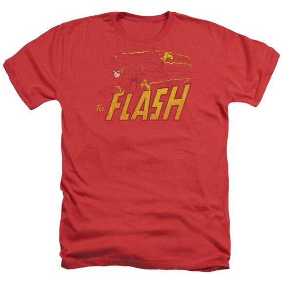Dc Flash Flash Speed Distressed Adult Heather