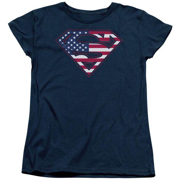 Superman U S Shield Short Sleeve Womens Tee T-Shirt