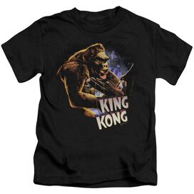 King Kong Kong And Ann Short Sleeve Juvenile Black T-Shirt
