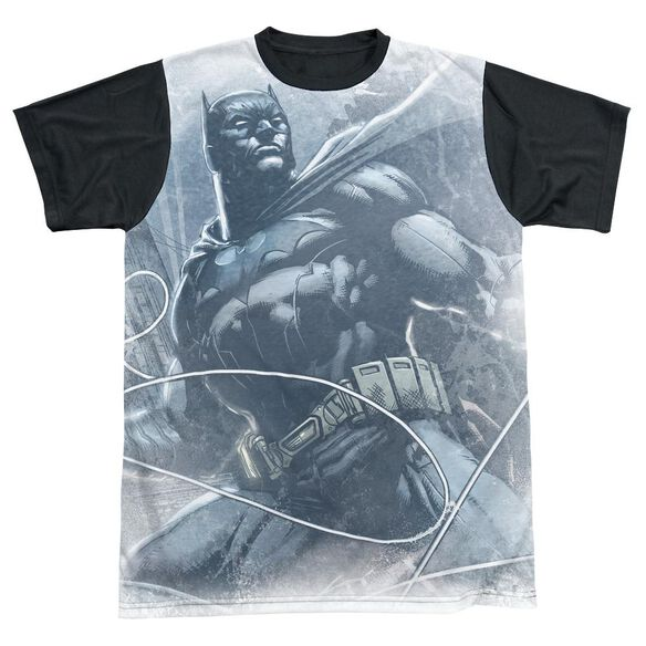 Batman Protector Short Sleeve Adult Front Black Back T-Shirt