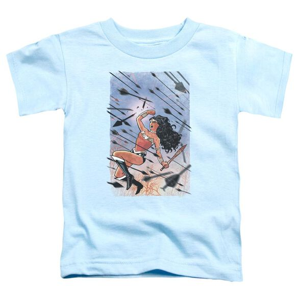 Jla Wonder Woman #1 Short Sleeve Toddler Tee Light Blue Md T-Shirt