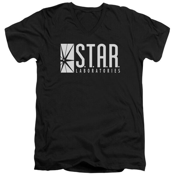 The Flash S.T.A.R. Short Sleeve Adult V Neck T-Shirt