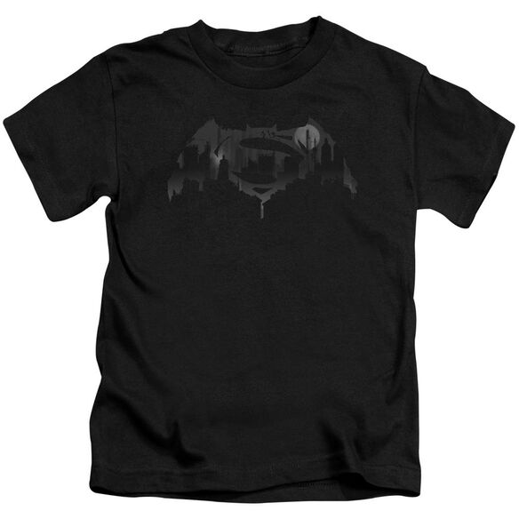 Batman V Superman Cityscape Logo Short Sleeve Juvenile T-Shirt