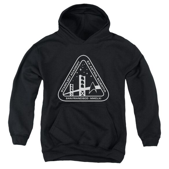 Star Trek White Academy Logo Youth Pull Over Hoodie