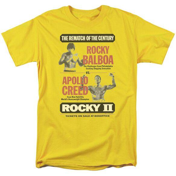 Rocky Ii Rematch Short Sleeve Adult Yellow T-Shirt