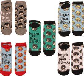 Attack on Titan Chibi 5 Pair Low Cut Socks Set