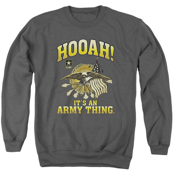 Army Hooah Adult Crewneck Sweatshirt