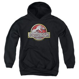 Jurassic Park Logo Youth Pull Over Hoodie