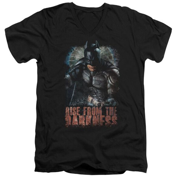 Dark Knight Rises Rise From Darkness Short Sleeve Adult V Neck T-Shirt