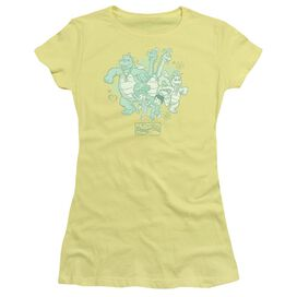 Dragon Tales Group Celebration Short Sleeve Junior Sheer T-Shirt