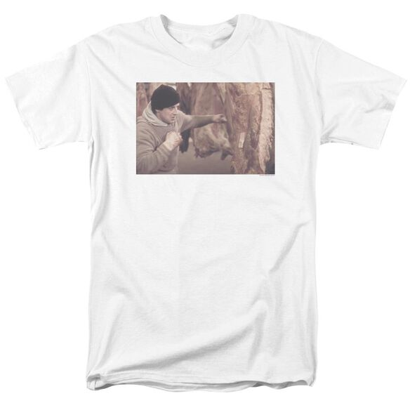 Rocky Meat Locker Short Sleeve Adult White T-Shirt
