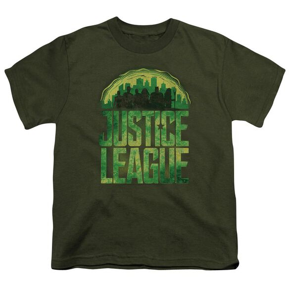 Justice League Movie Kryptonite Short Sleeve Youth Military T-Shirt