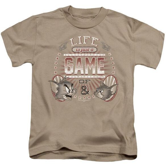 Tom And Jerry Life Is A Game Short Sleeve Juvenile T-Shirt