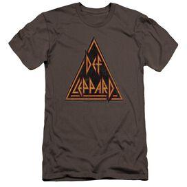 Def Leppard Distressed Logo Premuim Canvas Adult Slim Fit