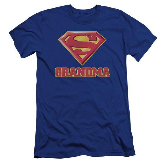 Superman Super Grandma Premuim Canvas Adult Slim Fit Royal