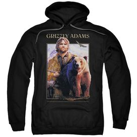Grizzly Adams Collage Adult Pull Over Hoodie