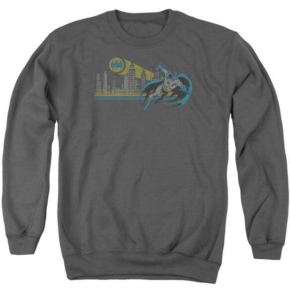 Dc Gotham Retro Adult Crewneck Sweatshirt
