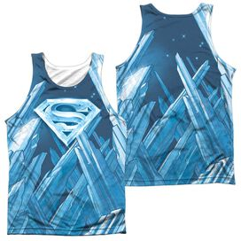 Superman Solitude Adult 100% Poly Tank Top