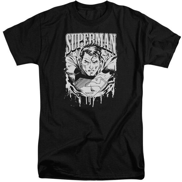 Superman Super Metal Short Sleeve Adult Tall T-Shirt