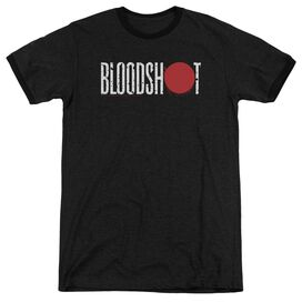 Bloodshot Logo Adult Heather Ringer