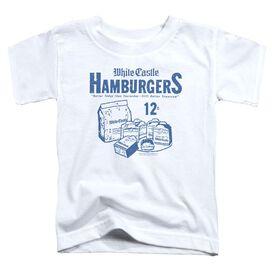 White Castle 12 Cents Short Sleeve Toddler Tee White T-Shirt