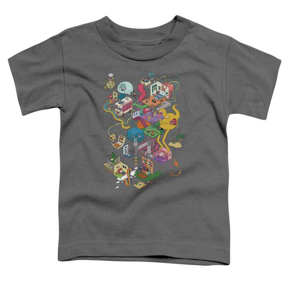 Uncle Grandpa Inside The Rv Short Sleeve Toddler Tee Charcoal T-Shirt