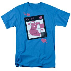 Fix It Puzzle Short Sleeve Adult Turquoise T-Shirt