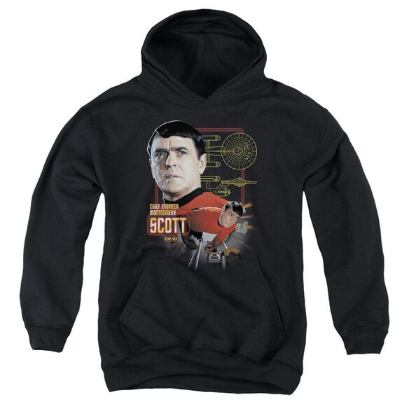 Star Trek Chief Engineer Scott Youth Pull Over Hoodie
