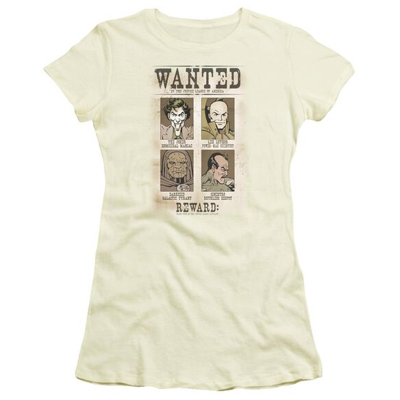Dc Wanted Poster Short Sleeve Junior Sheer T-Shirt