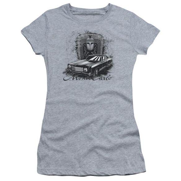 Chevrolet Monte Carlo Drawing Short Sleeve Junior Sheer Athletic T-Shirt
