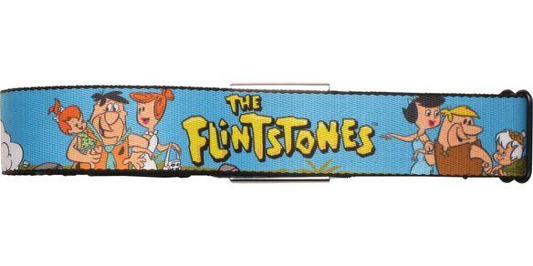 Flintstones Character Group Families Seatbelt Mesh Belt