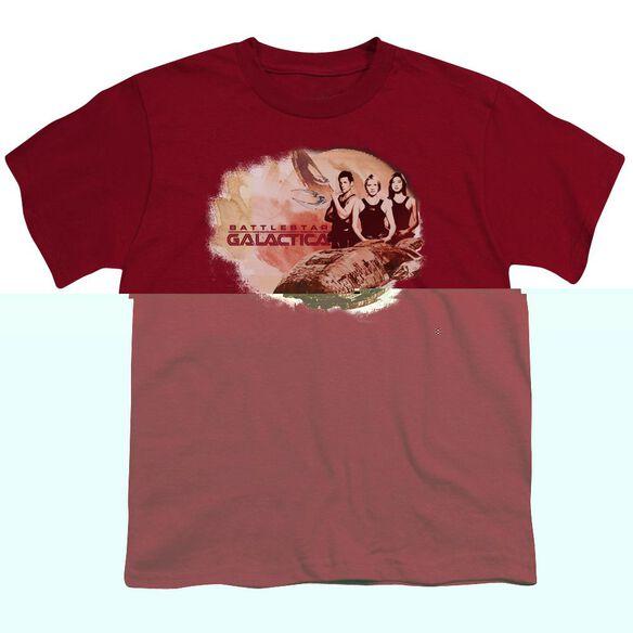 BSG GALACTICA PILOTS - S/S YOUTH 18/1 - CARDINAL T-Shirt
