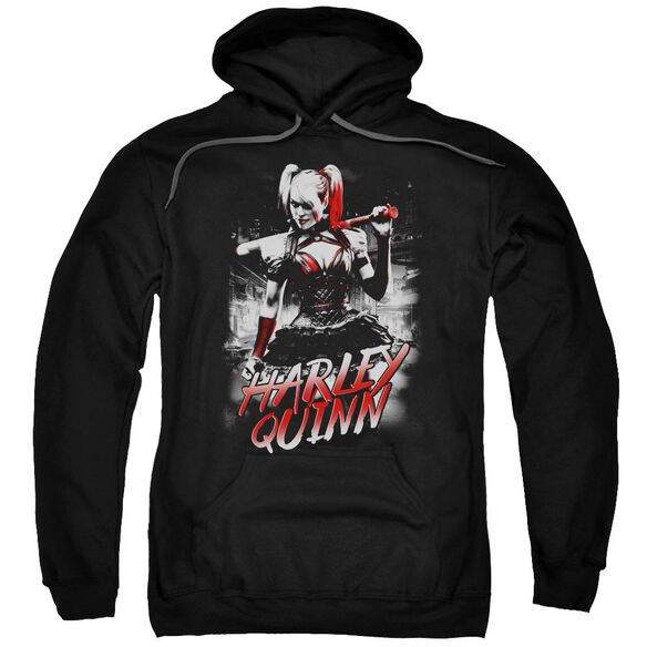 Batman Arkham Knight Quinn City Adult Pull Over Hoodie
