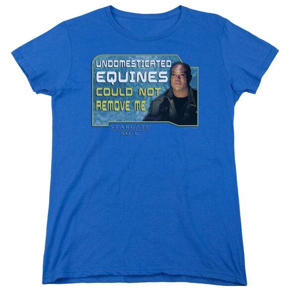 Sg1 Dedicated Short Sleeve Womens Tee Royal T-Shirt