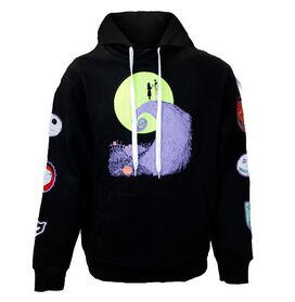 Nightmare Before Christmas Neon Patches Women's Hoodie