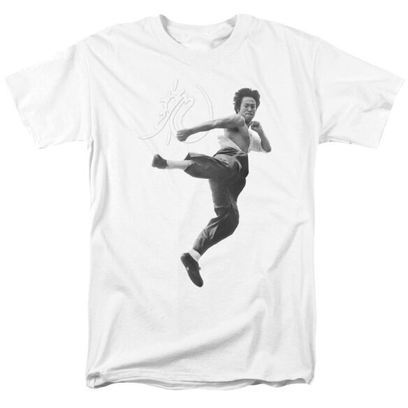 Bruce Lee Flying Kick Short Sleeve Adult T-Shirt