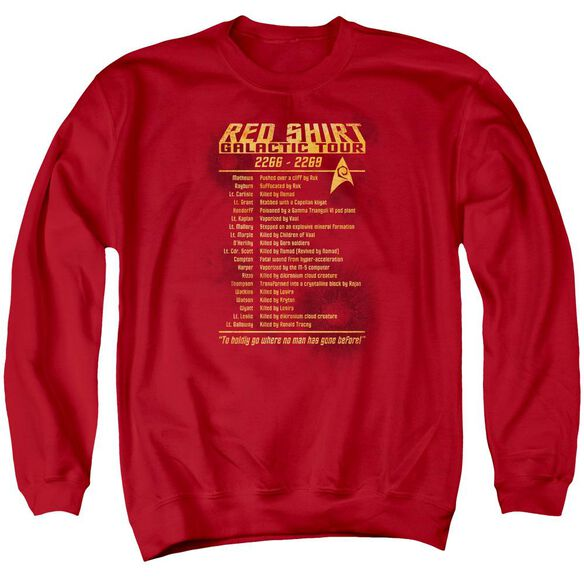 Star Trek Shirt Tour Adult Crewneck Sweatshirt