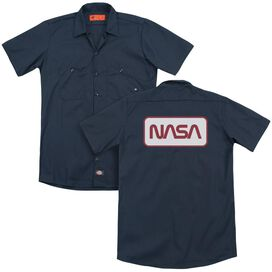 Nasa Rectangular Logo (Back Print) Adult Work Shirt