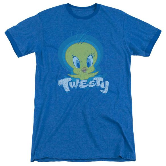 Looney Tunes Tweety Swirl Adult Ringer Royal Blue
