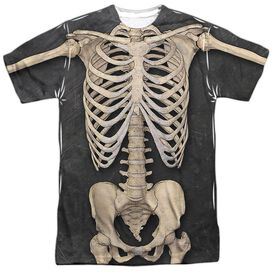 Skeleton Costume Short Sleeve Adult Poly Crew T-Shirt