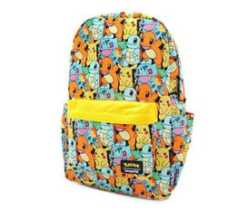 Loungefly Pokemon Starters All Over Print Nylon Mini Backpack