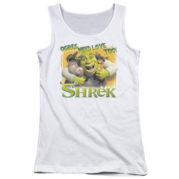 Shrek Ogres Need Love Juniors Tank Top