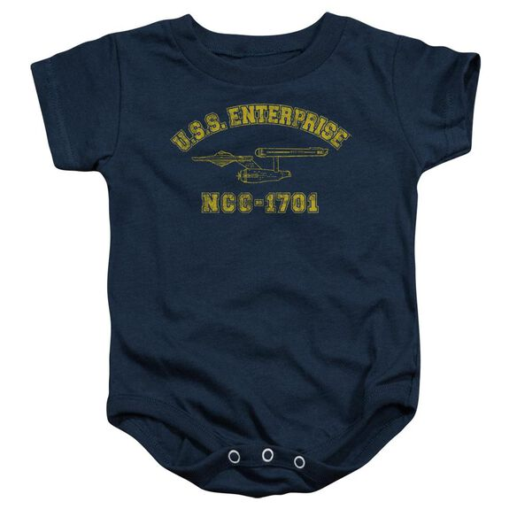 Star Trek Enterprise Athletic Infant Snapsuit Navy
