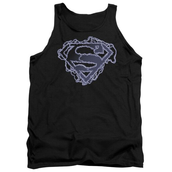 Superman Electric Supes Shield Adult Tank
